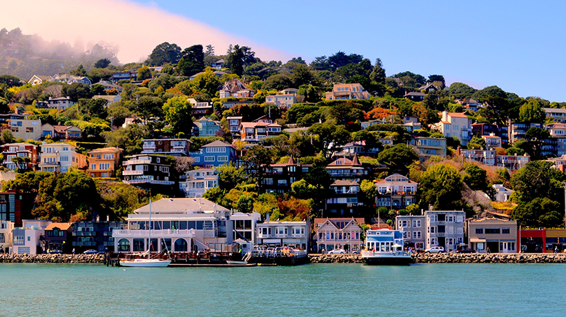 Sausalito homes on the hillside