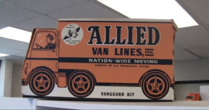 vintage allied van lines moving truck
